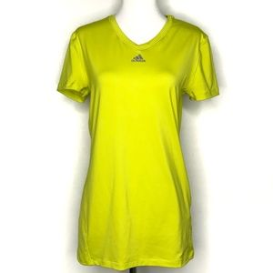 adidas Climalite Yellow Short Sleeve Top A090237